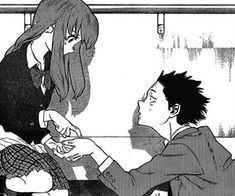 stinky koe no katachi Anime Ai, Sad Anime, Anime Manga, A Silent Voice Manga, A Silence Voice, Manhwa, Inspirational Movies, Anime Group, Anime Couples Manga