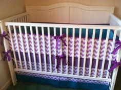 Teal and Purple Crib Bedding Set Peacock by butterbeansboutique, $325.00