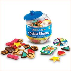 Learning Resources Goodie Games Cookie Shapes - Pre-K Complete Preschool… Educational Games For Toddlers, Educational Toys, Learning Resources, Kids Learning, Teaching Ideas, Jar Games, Teacher Wish List, Biscuits, Smart Snacks