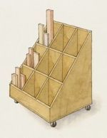 free plans woodworking resource from FineWoodworking - lumber racks,storage,carts,scrap wood,free woodworking plans,projects,diy,workshops