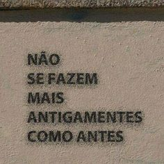 Antigamente