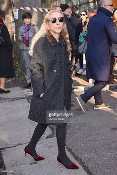 Franca Sozzani is seen at the Giorgio Armani Show during the Milan Menswear Fashion Week Fall Winter 2015/2016 on January 20, 2015 in Milan, Italy.