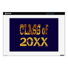 "Golden Class of Graduation Year Hats Skins For 15"" Laptops"