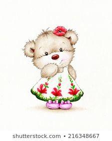 Similar Images, Stock Photos & Vectors of Cute bunny with baby bear - 362961401 Tatty Teddy, Cute Animal Illustration, Bear Girl, Cute Teddy Bears, Digi Stamps, Bullet Journal Inspiration, Portfolio, Cute Bunny, Cute Drawings