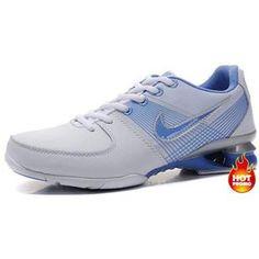 72b7a6889fd967 Womens Nike Shox R2 White Blue Nike Shox Shoes