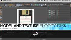 How to model and texture old Floppy Disks Part 1 in Best of C4D Tutorials. on Vimeo