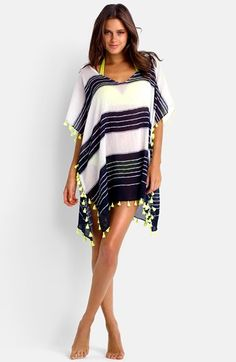 Free shipping and returns on Seafolly 'Cable' Tassel Trim Cotton Caftan at Nordstrom.com. Silky chartreuse tassels trim the edges of a short, sheer caftan cut from indigo-striped cotton voile. Slip it on for lightweight coverage that doesn't sacrifice an ounce of style.