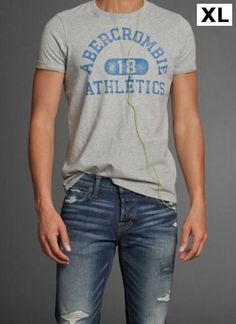 Abercrombie Fitch AF Hough Peak Gray Graphic Short Sleeve Tee T shirt sz XL #AbercrombieFitch #GraphicTee