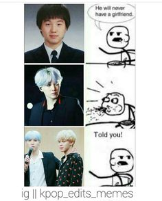 """308 Likes, 3 Comments - Xx 라뷰 xX (@yoonminjjang) on Instagram: """"The best meme I've seen in a while Cr: @kpop_edits_memes"""""""