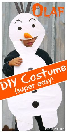 How to make Olaf from Frozen Halloween Costume. Super easy