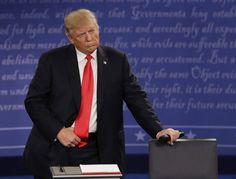 "Donald Trump committed one of the most astonishing changes of subject in the history of language early in Sunday night's debate when Anderson Cooper said ""you described kissing women without ..."