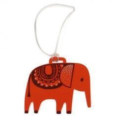 Safari Park elephant luggage tag