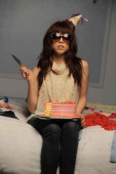 Carly Rae Jepsen (And a Birthday Cake)