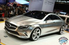 Silver Car made by Mercedes Benz Concept Style Coupe @ Chicago Auto Show 2013