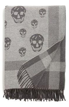 Alexander+McQueen+Skull+Pattern+Wool+Blend+Blanket+available+at+#Nordstrom