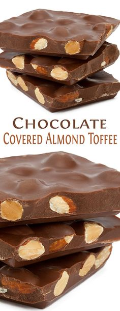 Chocolate Covered Almond Toffee. #CompleteRecipes #recipe #recipes #food #foodgasm #cleaneating #healthyfood #healthy #healthyrecipes #chocolate #toffee
