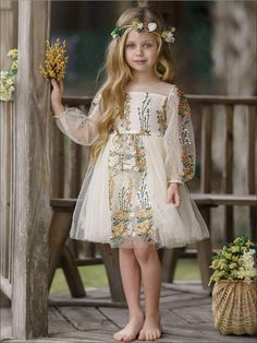 Toddler Flower Girl Dresses, Flower Dresses, Baby Dress, Girls Dresses, Spring Dresses Casual, Spring Outfits, Summer Outfit, Cute Little Girls Outfits, Kids Outfits