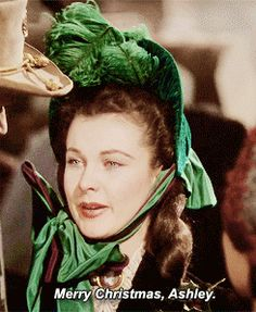 """GONE WITH THE WIND ~ """"Merry Christmas, Ashley"""" - Scarlett O'Hara (Vivien Leigh). [Video/GIF]"""