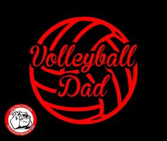Volleyball Dad Vinyl Decal for Car Window, Locker, Laptop, and More! by LazyDogConcepts on Etsy #volleyball #volleyballdad #decal #dad #sports