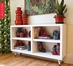 Bland shelves into credenza