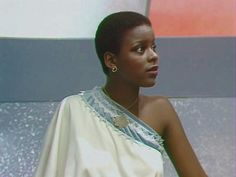 """Josette Simon as Dayna Mellanby in """"Blakes . Lupita is beautiful, but this is a Goddess. Fantasy Tv, Space Fantasy, Episodes Series, Tv Series, Avant Garde Film, Queen Birthday, Black Actors, English Actresses, Brown Girl"""