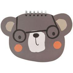 Just In Case bear wiro diecut notebook - Notebooks - Stationery