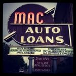 Mac-Auto-Loan sign, W 5th Avenue, Downtown Knoxville 37902