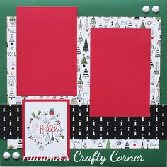 Faith Love Peace Joy - Christmas - Premade Scrapbook Page 12x12 Layout