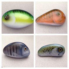 Air brushed fish stones SNS DESIGNS