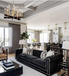 The Gorgeous Modern Living Room Decor with Restoration Trap In the event you require some suggestions to get going, here are five methods to enhance the plan of your living room. Firstly, dining room design is based on the walls. Living Room Interior, Home Living Room, Interior Design Living Room, Condo Living, Apartment Living, White Decor, White Lamps, Black Sofa Decor, Black Sofa Living Room Decor