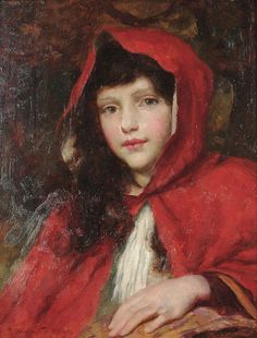 """George Sheridan Knowles (British, 1863-1931), """"Little Red Riding Hood"""" by sofi01, via Flickr"""