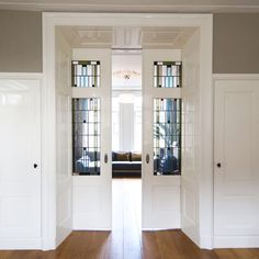 Hall Room, Pocket Doors, Home Living Room, Tall Cabinet Storage, Home And Garden, Architecture, Interior, Outdoor Decor, House