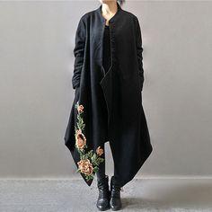 Le donne più lana dimensione cappotto allentato del cappotto Fitting