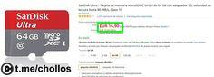 MicroSD SanDisk Ultra 64GB por solo 1690 - http://ift.tt/1T722L3