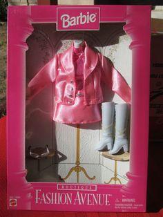 Barbie Fashion Avenue Boutique 16978 1996 Pink Satin Mini Skirt Jacket Acce | eBay