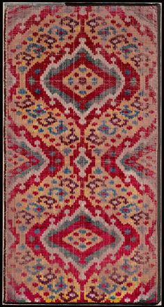 Ikat-dyed velvet panel | Museum of Fine Arts, Boston