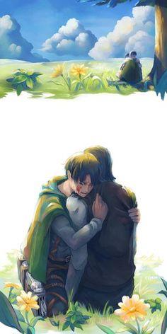 Shingeki no Kyojin┋Атака Титанов┋Attack on Titan,😭😭😭😭 Levi Ackerman, Kenny Ackerman, Sad Anime, Anime Manga, Anime Art, Eren Y Levi, Levi And Erwin, Attack On Titan Fanart, Attack On Titan Levi