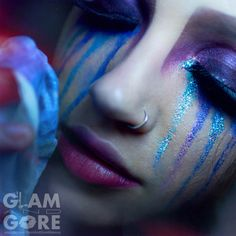 Glitter tears.  For more makeup looks and tutorials: www.instagram.com/Mykie_      www.youtube.com/GlamAndGoreMakeup