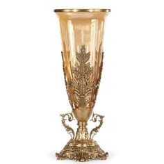 Wildwood Flower Vase With Stand. Features: Hand antiqued solid brass Cut crystal vase Details: Collection Code: WM Materials: Solid Brass Measurements: Dimensions: h x dia Glass Floor Vase, Wildwood Flower, Freestanding Mirrors, New Homeowner Gift, Rustic Mantel, Crystal Vase, Shop Interior Design, Design Shop, Luxury Interior