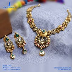 Gold 916 Premium Design Get in touch with us on 14k Gold Jewelry, Gold Jewellery Design, Jewelry Sets, India Jewelry, Handmade Jewellery, Bridal Jewelry, Gold Mangalsutra Designs, Jewelry Patterns, Necklace Designs