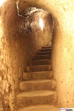 Derinkuyu underground city stairs