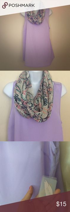 NWT Purple Tank & Scarf Bundle Brand new with tags Forever 21 lavender tank. Scarf is from American Eagle- in great condition. You get both for one price. Forever 21 Tops Tank Tops
