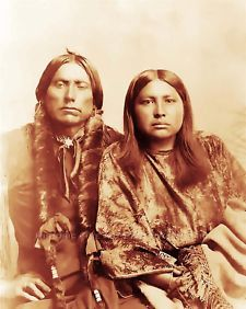 Comanche Chief Quanah Parker And Wife Melvin War Eagle Native Artist Graphic Fashion Designer American Hair Styles