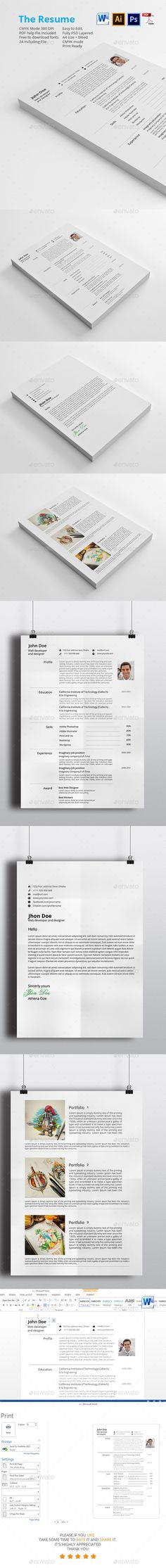 Resume Template Modern resume template, Modern resume and Cv - cv template download