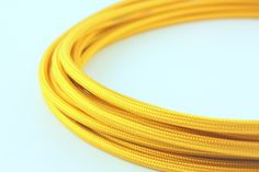 Polished gold power cord