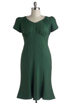 Down to a Pine Art Dress in Plus Size, #ModCloth