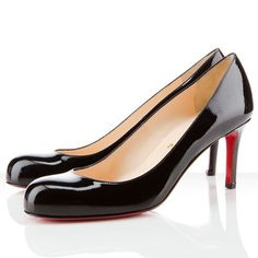 Christian Louboutin Simple 80mm Pumps Black DSZ #WhatSheLove   See more about christian louboutin, pumps and black.