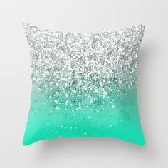 Glitteresques XXXV Throw Pillow by Rain Carnival
