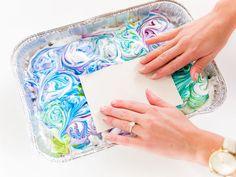 DIY Tinkerbell-Inspired Shaving Cream Art