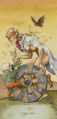 The Wheel of Fortune: Tarot of Dürer by Gaudenzi